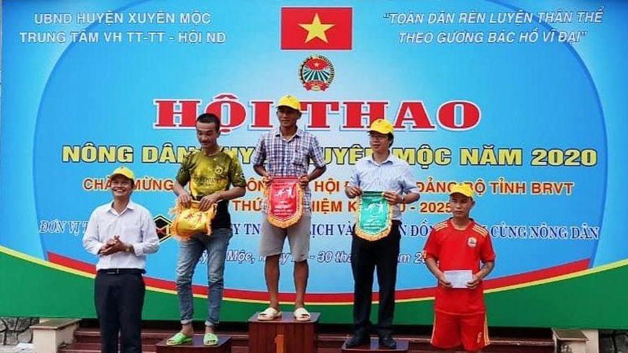 400 hội viên nông dân Xuyên Mộc tham gia Hội thao
