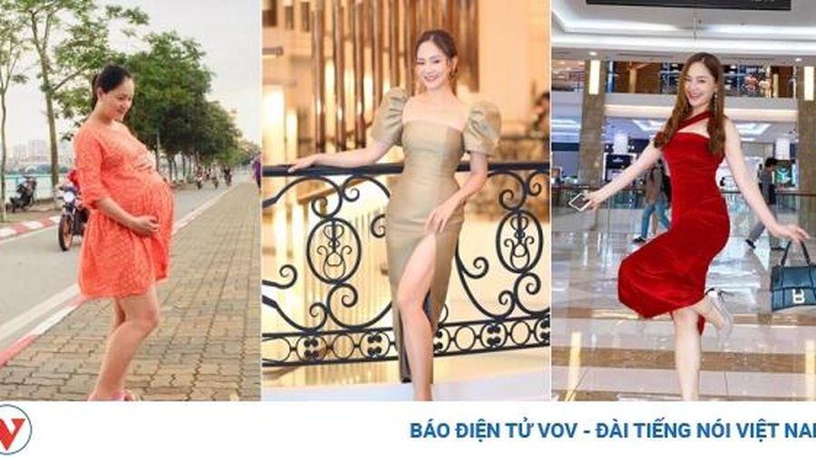 Từng tăng 18kg khi mang bầu, Lan Phương về dáng 'thần tốc' sau sinh, tự tin đọ sắc hoa hậu