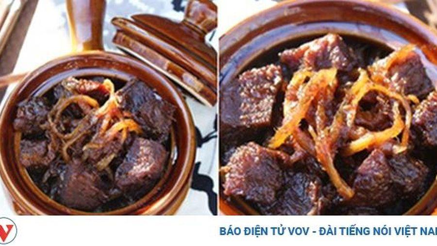 Tiết trời se lạnh làm món thịt bò kho gừng vừa ấm bụng vừa ngon cơm cả nhà đều thích