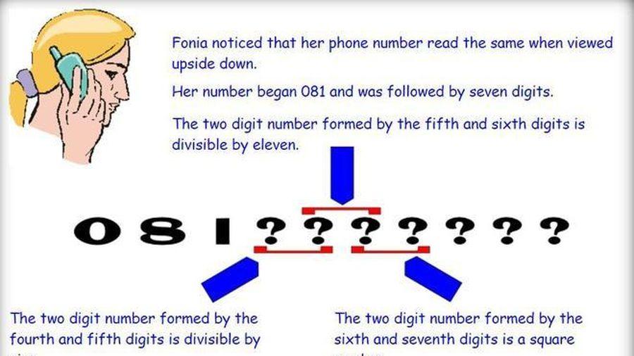 Bài toán tìm số điện thoại hóc búa, người thông minh cũng khó làm được