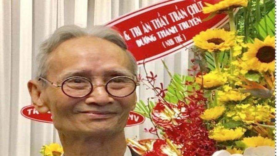 Nhà giáo ưu tú Trần Chút qua đời ở tuổi 83