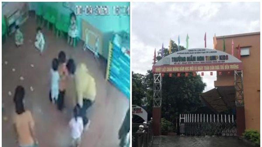 Vụ bé gái 2 tuổi bị bố của bạn tát vào mặt trong lớp học: Phòng GD&ĐT TP.Lào Cai nói gì?