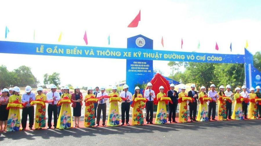 Quảng Nam: thông xe kỹ thuật đường ven biển Võ Chí Công