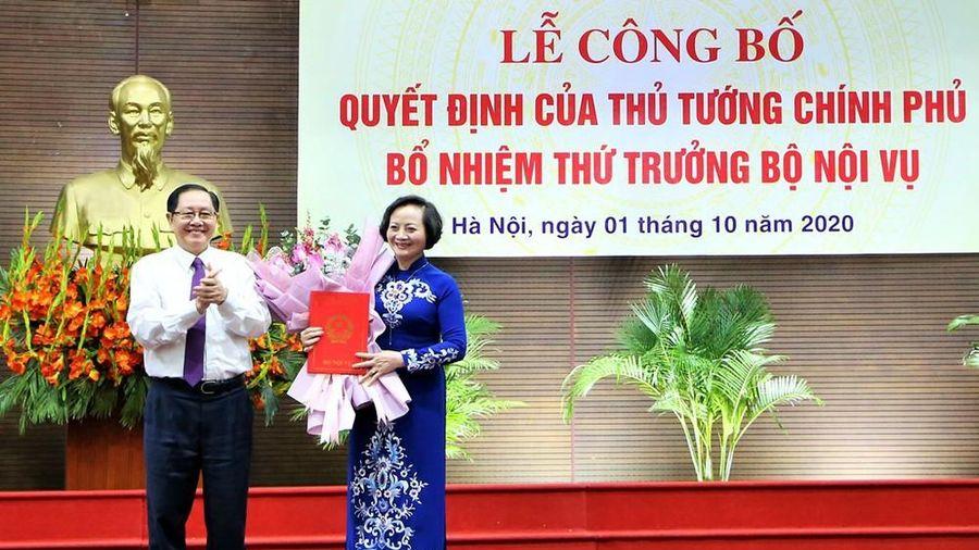 Bổ nhiệm bà Trà làm Thứ trưởng Bộ Nội vụ là theo yêu cầu công tác