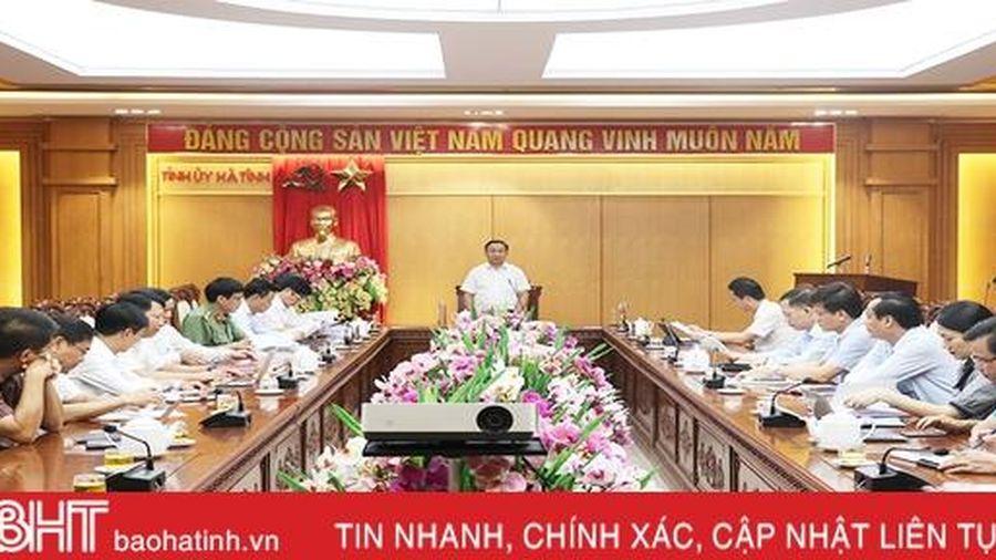Quyết tâm cao nhất, bảo đảm an toàn tuyệt đối cho Đại hội Đảng bộ tỉnh Hà Tĩnh lần thứ XIX