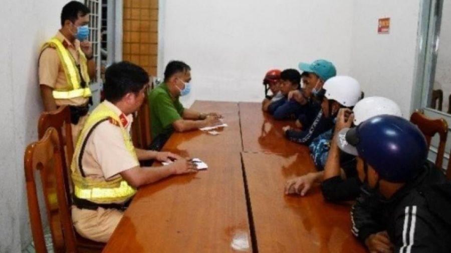 7 thanh thiếu niên, nẹt pô chạy xe máy với tốc độ cao trong TP Trà Vinh