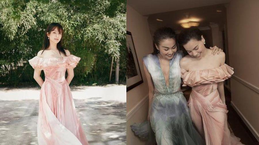 Dương Tử diện đầm của Công Trí, fans bình luận: 'Hà Hồ cũng mặc mà sao một chiếc váy hai số phận?'