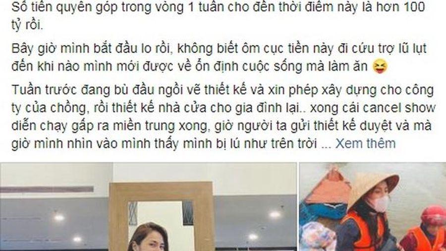 Ca sĩ Thủy Tiên thông báo quyên góp được hơn 100 tỷ đồng ủng hộ miền Trung