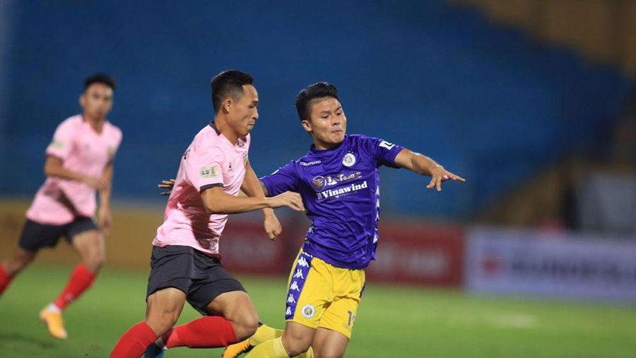 V.League 2020: Thắng Hồng Lĩnh Hà Tĩnh 1-0, Hà Nội bám sát Viettel