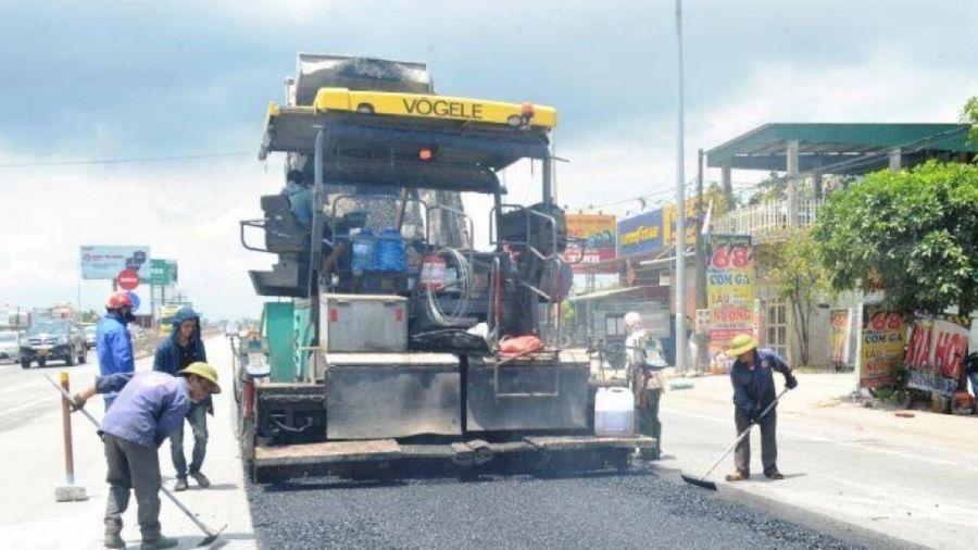 Hoàn thành sửa chữa hơn 1,3 triệu m2 hằn lún trên tuyến QL1