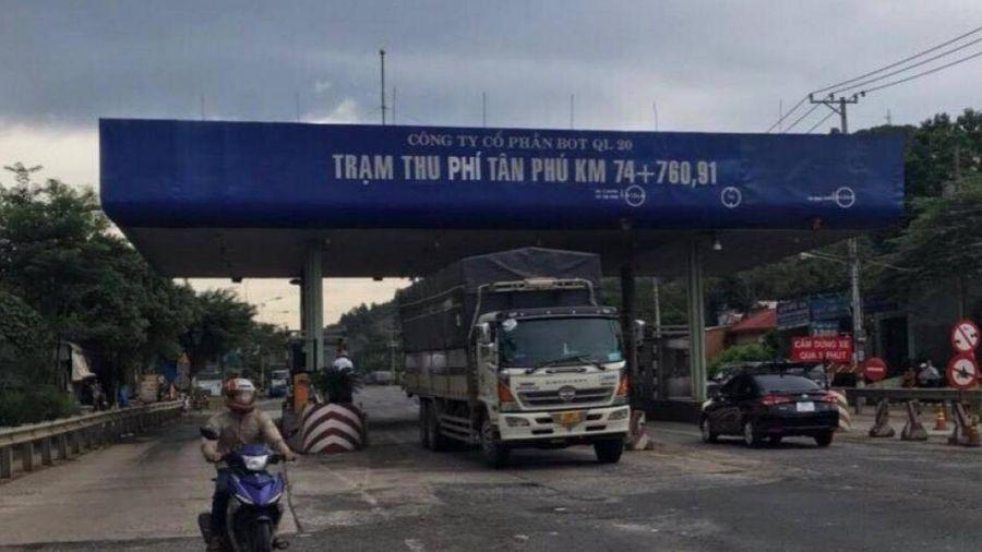 Chính thức tạm dừng thu phí trạm BOT Quốc lộ 20 qua Đồng Nai