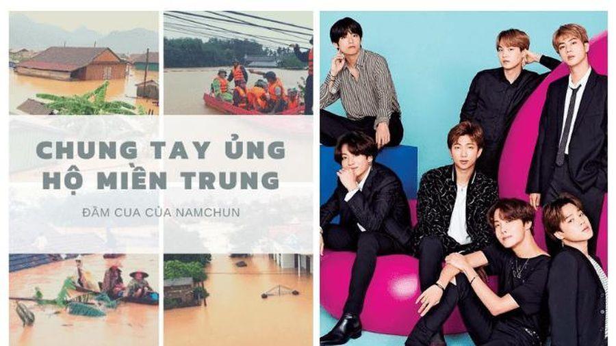 Người hâm mộ nhóm nhạc BTS tại Việt Nam đi đầu trong hoạt động quyên góp cho miền Trung