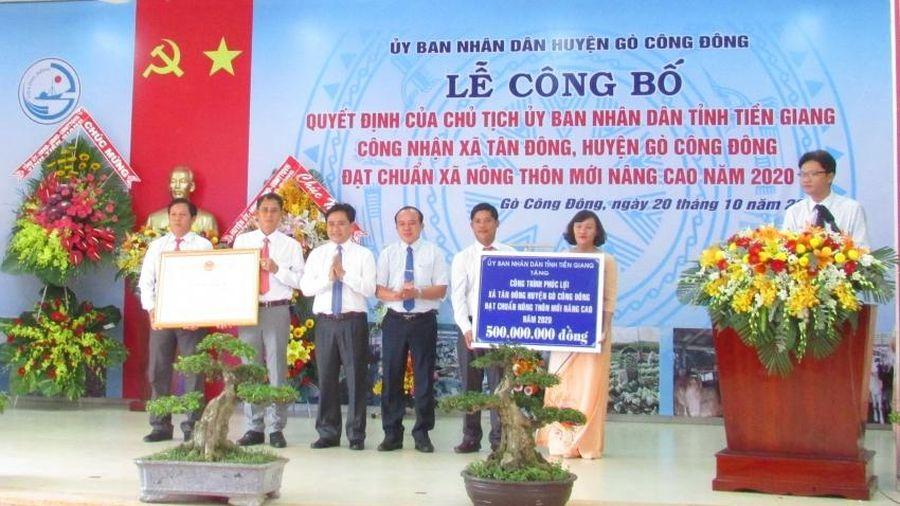 Tiền Giang công bố xã đầu tiên đạt chuẩn nông thôn mới nâng cao