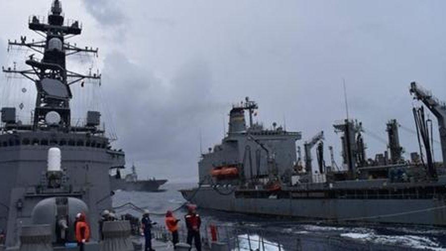Mỹ, Nhật, Australia tập trận hải quân ở Biển Đông
