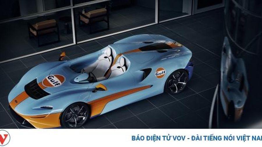 Cận cảnh McLaren mui trần Elva phiên bản phối màu Gulf giá hơn gần 2 triệu USD