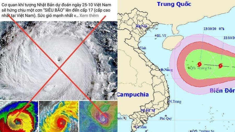 Thực hư thông tin có bão cấp 17 sắp đổ bộ vào miền Trung