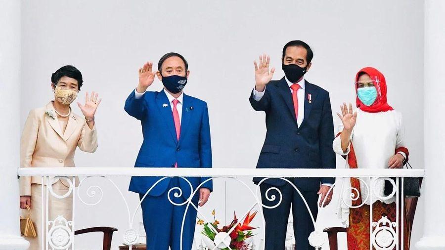 Thủ tướng Suga thăm Indonesia, khởi động hội đàm 2+2