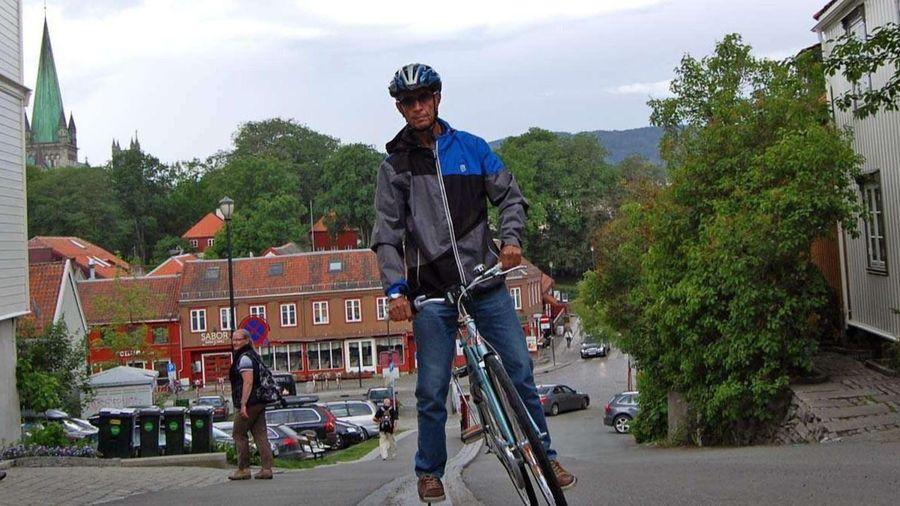 Thang máy cho xe đạp lên dốc ở Na Uy