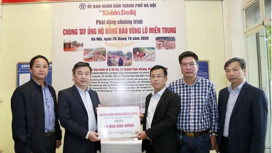 Báo Kinh tế & Đô thị cùng nhiều doanh nghiệp, tổ chức Chung tay ủng hộ đồng bào vùng lũ miền Trung