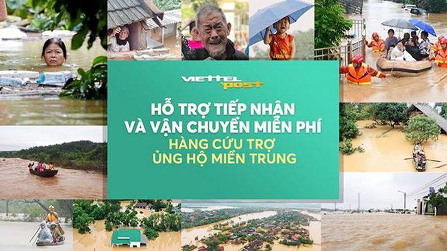 Nhiều điểm tiếp nhận và vận chuyển miễn phí hàng cứu trợ đồng bào miền Trung