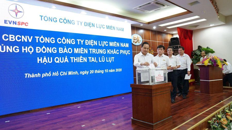 EVNSPC ủng hộ đồng bào miền Trung trên 3,6 tỷ đồng