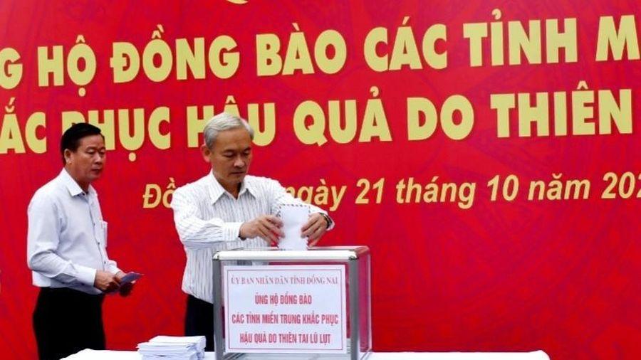 Đồng Nai quyên góp được gần 3,6 tỷ đồng ủng hộ đồng bào miền Trung