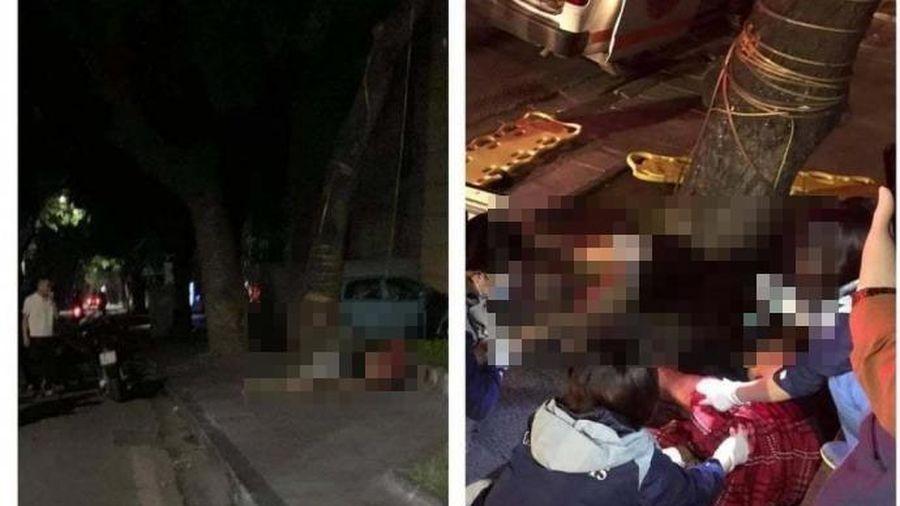 Xe 2 cô gái vào gốc cây, người chết, người bị thương