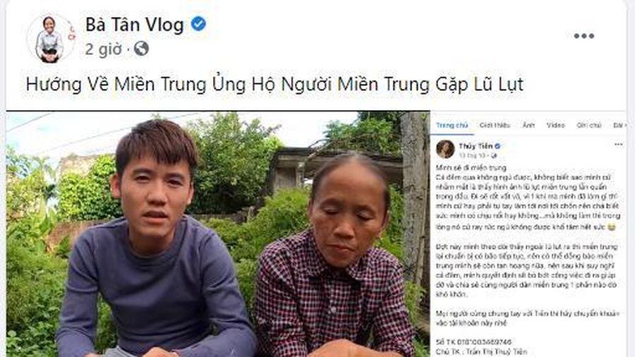 Bà Tân Vlog và con trai ủng hộ miền Trung 50 triệu đồng qua tài khoản của Thủy Tiên
