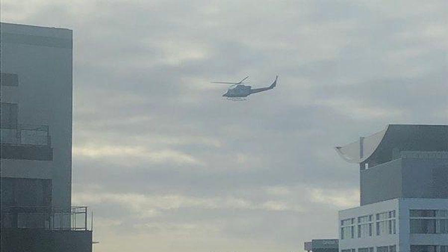 Trực thăng Mỹ quần thảo khu vực thủ đô dò tìm phóng xạ trước bầu cử