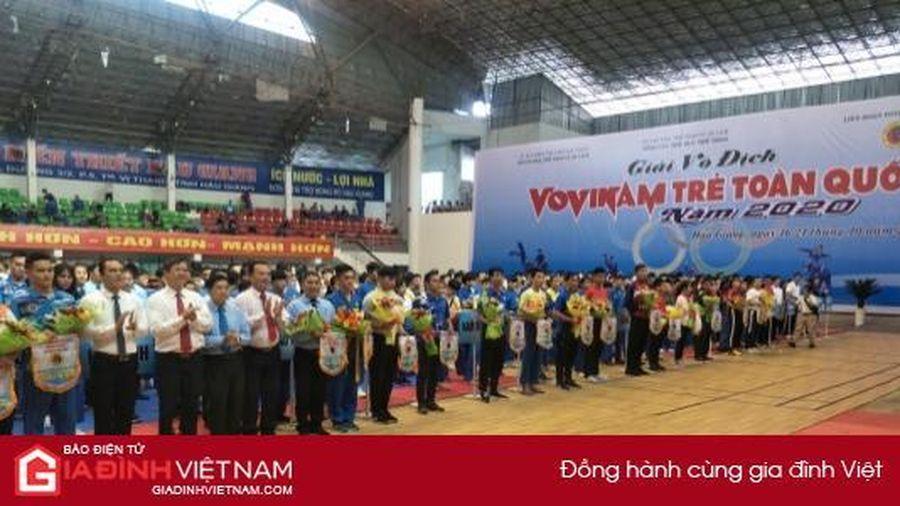 645 VĐV tham dự Giải Vô địch Vovinam trẻ toàn quốc năm 2020 tại Hậu Giang