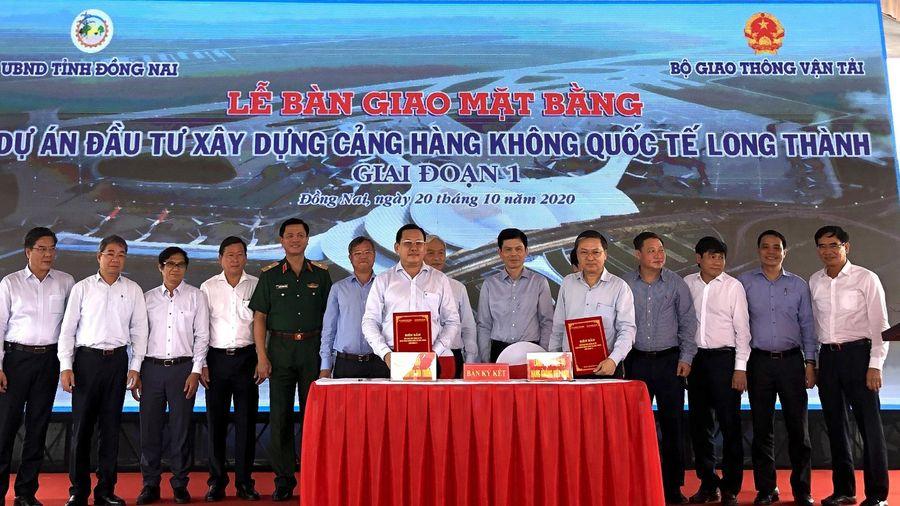 Cảng Hàng không quốc tế Long Thành giai đoạn 1 đã hoàn thành khâu giải phóng mặt bằng