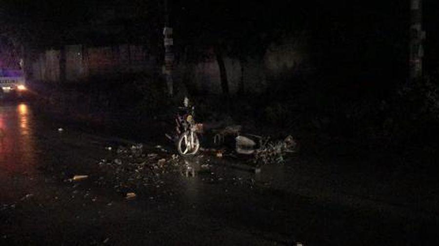 Bình Dương: 2 người thương vong sau va chạm trên đoạn đường đèn chiếu sáng không hoạt động