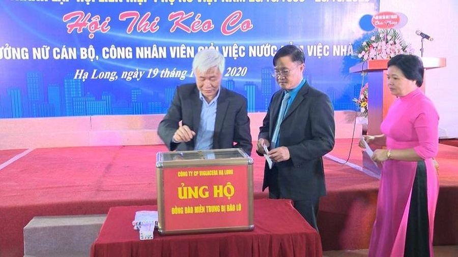 Công ty CP Viglacera Hạ Long ủng hộ đồng bào miền Trung