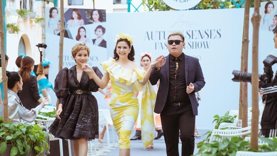 Ca sĩ Lưu Kỳ Hương làm vedette cho bộ sưu tập của NTK Giang Kyo