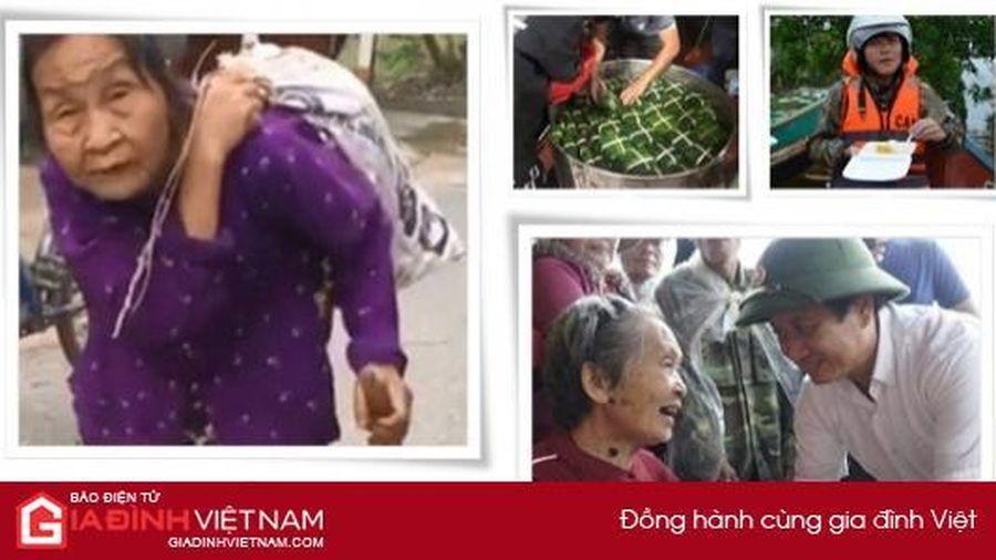 'Rơi nước mắt' những hình ảnh giữa tâm lũ miền Trung