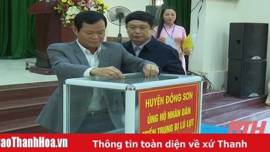 Huyện Đông Sơn phát động ủng hộ Nhân dân các tỉnh Miền Trung bị lũ, lụt