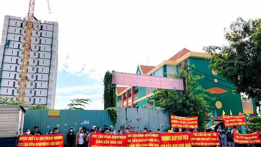 Dự án Tân Bình Apartment xây trái phép, chậm bàn giao, UBND Tp.HCM ra tối hậu thư