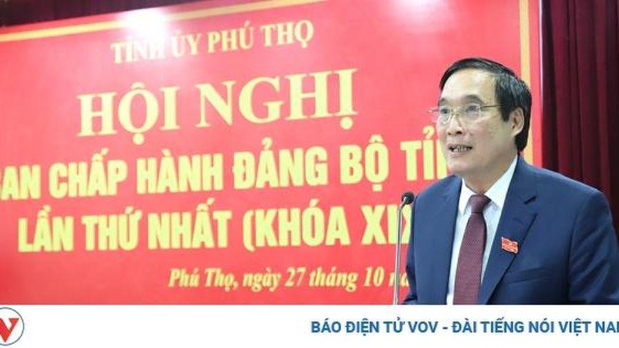 Ông Bùi Minh Châu tái đắc cử Bí thư Tỉnh ủy Phú Thọ nhiệm kỳ 2020-2025