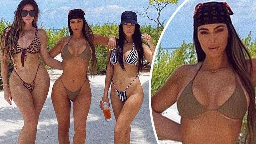 Bị chỉ trích vì tiệc tùng giữa dịch, chị em Kim 'siêu vòng 3' khoe ảnh bikini 'bỏng mắt'