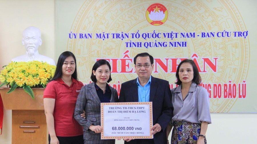 Đến trưa 29/10, Ủy ban MTTQ tỉnh tiếp nhận gần 3,5 tỷ đồng ủng hộ đồng bào miền Trung