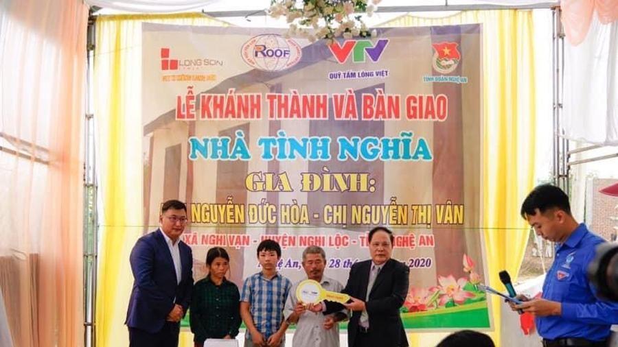 Hiệp hội Tấm lợp Việt Nam trao nhà tình nghĩa tại Nghi Lộc, Nghệ An