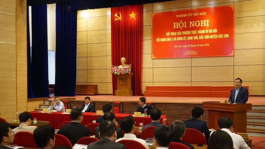 Thường trực Thành ủy Hà Nội đối thoại với người dân khu xử lý rác Nam Sơn