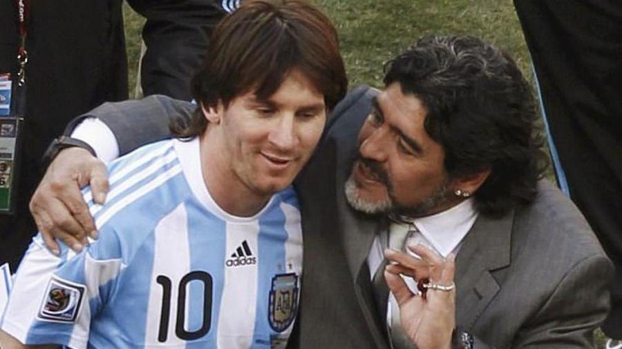 Huyền thoại Maradona bất ngờ lên tiếng về Ronaldo và Messi