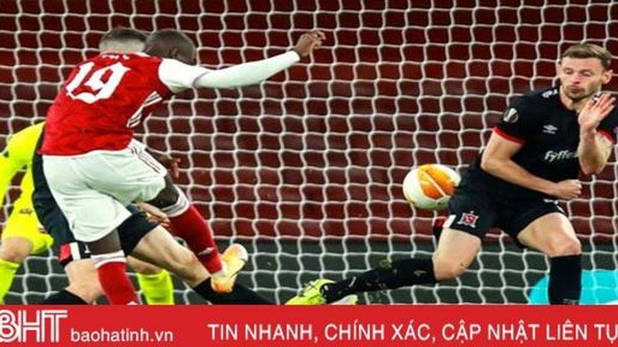 Ghi 3 bàn trong 4 phút, Arsenal thắng trận thứ hai ở Europa League