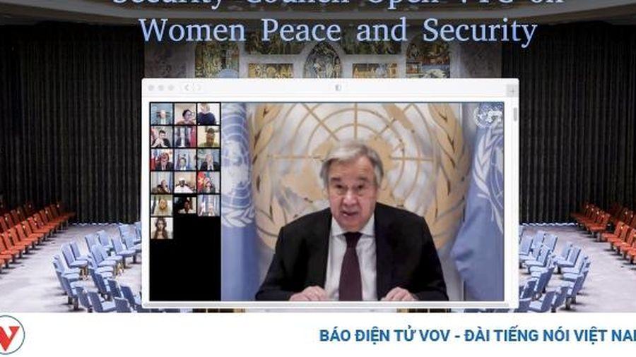 Hội đồng Bảo an LHQ kêu gọi tăng cường hỗ trợ tài chính cho phụ nữ, trẻ em vùng xung đột
