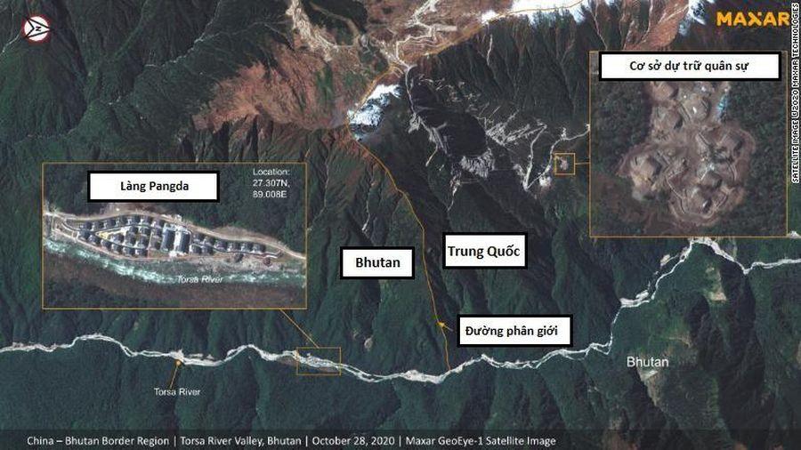 Ảnh vệ tinh hé lộ làng lạ 'mọc lên' ở biên giới Trung Quốc - Bhutan