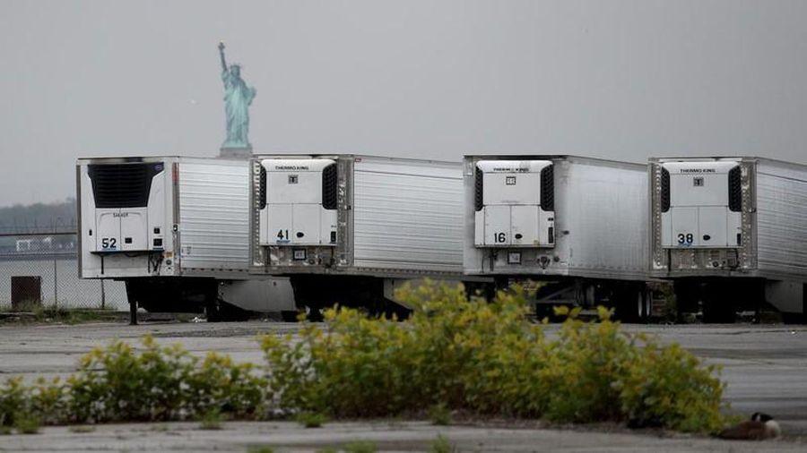 650 thi thể bệnh nhân Covid-19 nằm trong xe đông lạnh ở New York