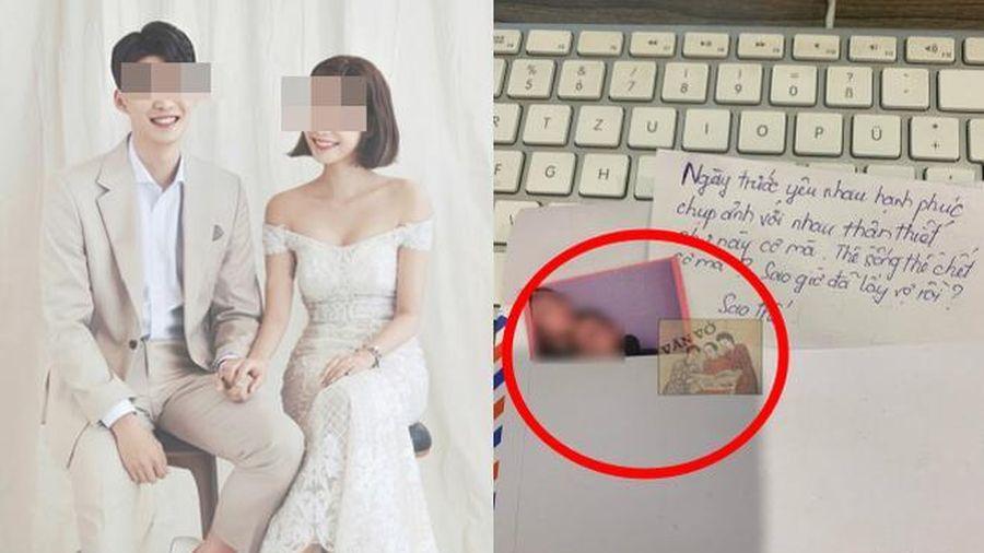 Sau đám cưới cô dâu ngồi bóc phong bì, món đồ người yêu cũ chồng gửi đến 'không có ớt nhưng cực cay'