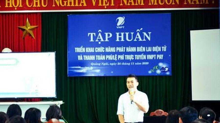 VNPT Quảng Ngãi tập huấn dịch vụ biên lai điện tử và thanh toán trực tuyến không dùng tiền mặt