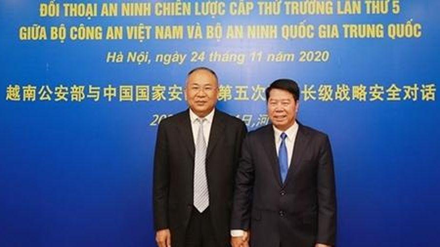 Tăng cường tin cậy chính trị và hợp tác thực chất giữa Bộ Công an Việt Nam và Bộ An ninh quốc gia Trung Quốc